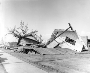 Damage from the Columbus Day Storm of 1962 in Newberg, Oregon