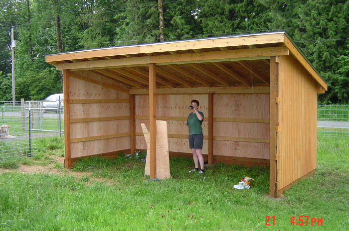 Guide to get 3 sided run in shed plans wood shed Shelter house plans