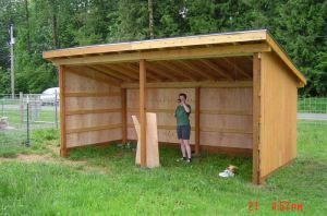 Basic run-in shelter, May 2006