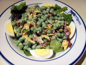 Pea-bacon salad