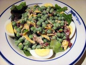 Pea-bacon salad